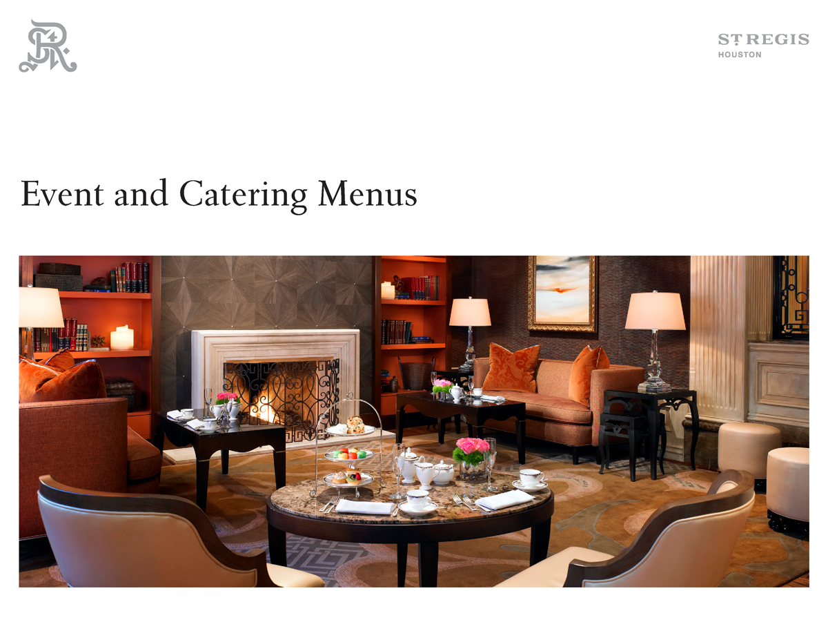 St. Regis Hotels & Resorts Event and Catering Menus